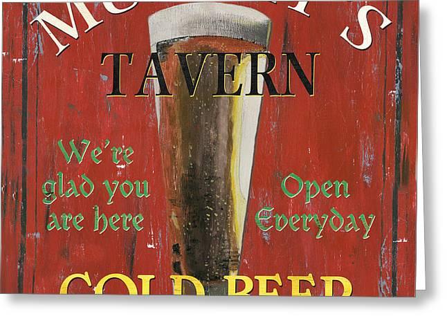 Murphy's Tavern Greeting Card by Debbie DeWitt