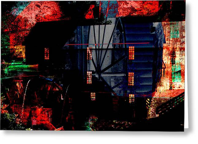Flour Digital Art Greeting Cards - Murrays Mill Revisited Greeting Card by MW Robbins