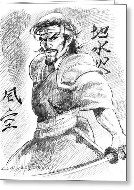 Principles Greeting Cards - Musashi Miyamoto Five Rings Greeting Card by David Lloyd Glover