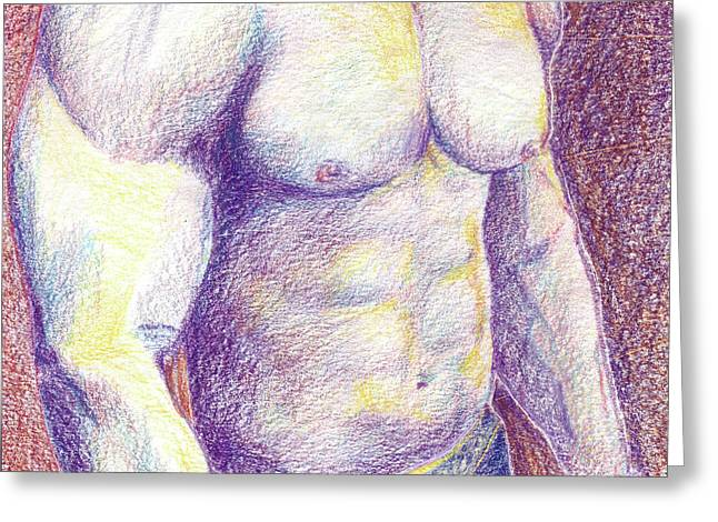 Muscle Greeting Card by Lee Lee