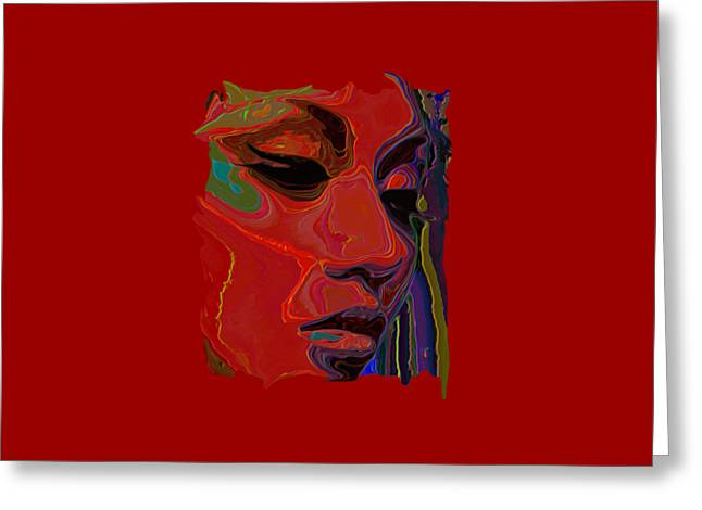 Byron Walker Greeting Cards - Muse 1 Tee Greeting Card by  Fli Art