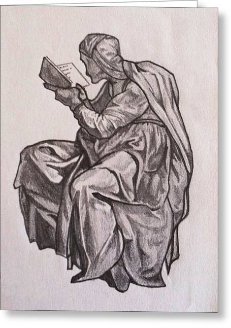 Michelangelo Greeting Cards - Muse Greeting Card by Michael O