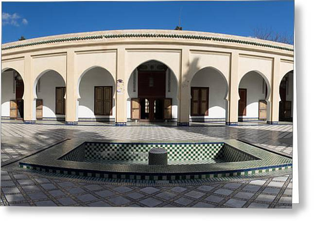 Moroccan Courtyard Greeting Cards - Musee Du Batha Built By Sultan Hassan I Greeting Card by Panoramic Images