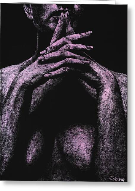 Figurative Pastels Greeting Cards - Museful Greeting Card by Richard Young