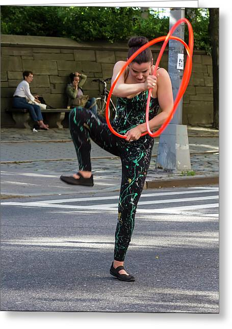 Museum Mile Nyc 6_14_16 Dancer Greeting Card by Robert Ullmann