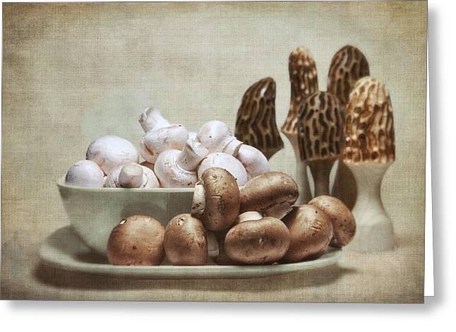 Mushrooms And Carvings Greeting Card by Tom Mc Nemar