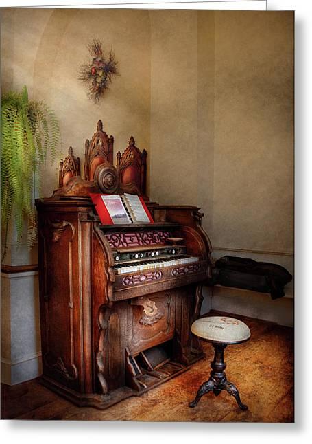 Fund Raiser Greeting Cards - Music - Organ - Hear the Joy  Greeting Card by Mike Savad
