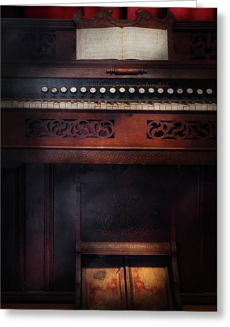 Organist Greeting Cards - Music - Organist - Do not mortgage the farm Greeting Card by Mike Savad