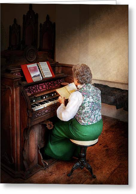 Music - Organist - The Lord Is My Shepherd  Greeting Card by Mike Savad