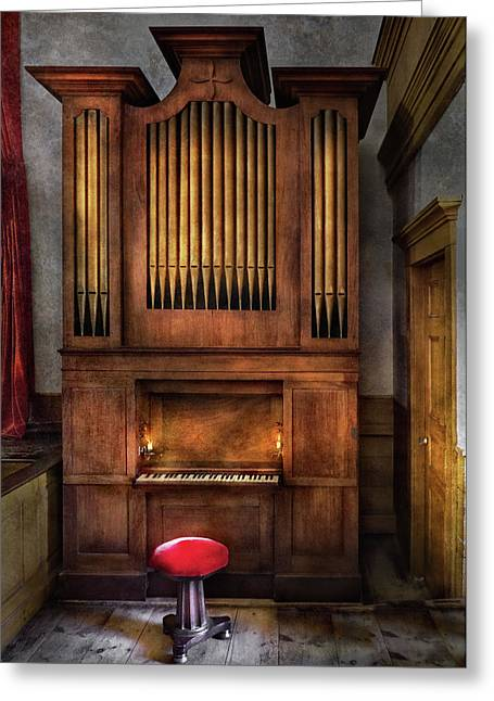 Fund Raiser Greeting Cards - Music - Organist - What a big organ you have  Greeting Card by Mike Savad