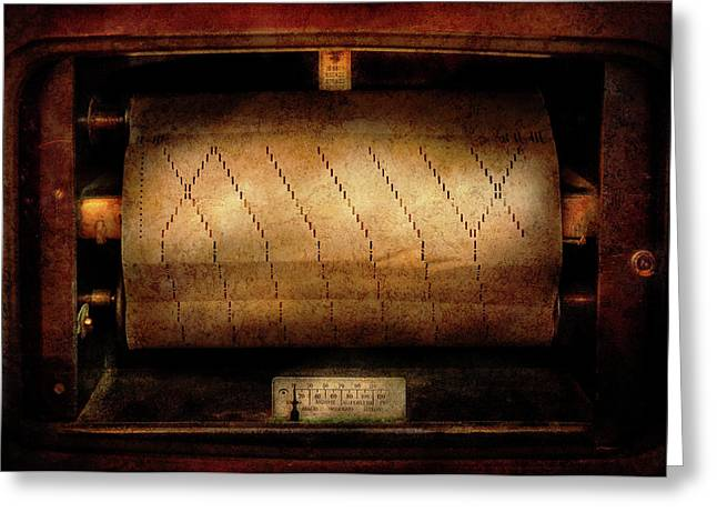 Music - Piano - Binary Code  Greeting Card by Mike Savad
