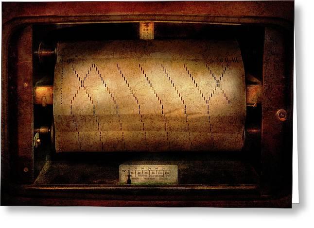 Music - Piano - Binary Code  Greeting Card by Mike Savad