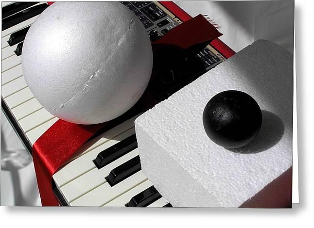 Installation Greeting Cards - Music Corner 8 Greeting Card by Evguenia Men