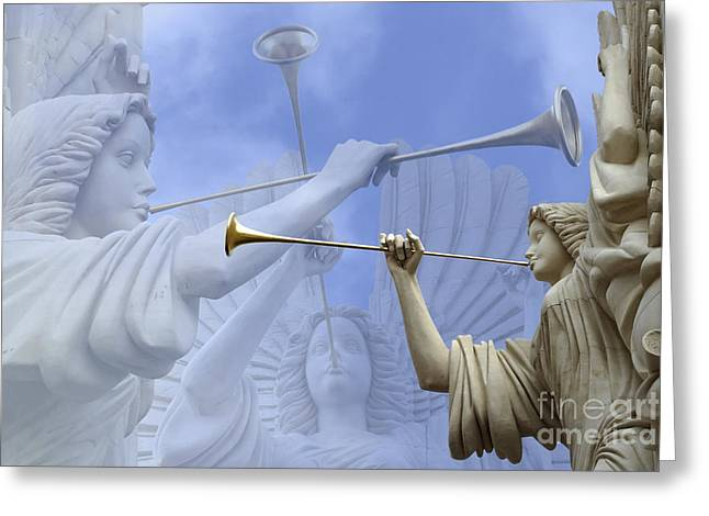 Statue Greeting Cards - Music Divine Greeting Card by Jeannie Burleson