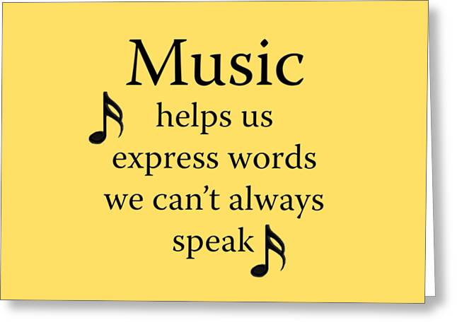 Marching Band Greeting Cards - Music Expresses Words Greeting Card by M K  Miller