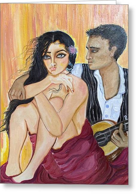 Souls Greeting Cards - Music for soul Greeting Card by Sangeetha Bansal