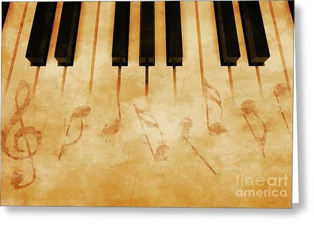 Music Greeting Card by Giordano Aita
