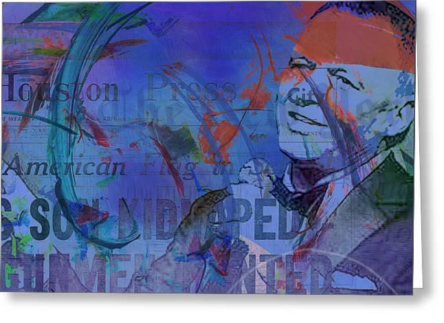 Music Icons - Frank Sinatra Iv Greeting Card by Joost Hogervorst