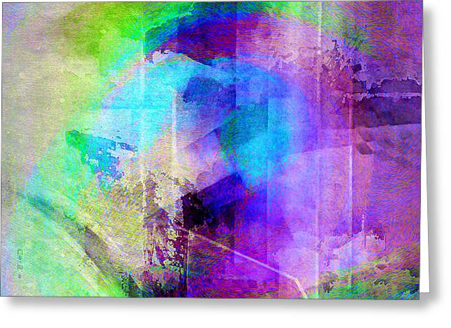 Print On Canvas Mixed Media Greeting Cards - Music In The Forest - Abstract Art Greeting Card by Jaison Cianelli