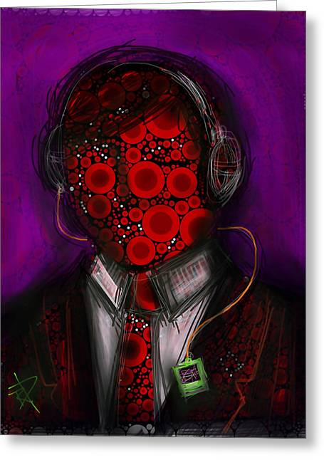 Music Lover Greeting Card by Russell Pierce
