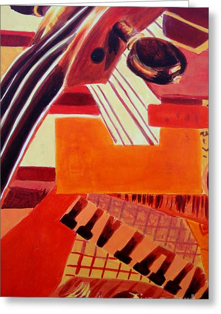 Abstract Movement Greeting Cards - Music Greeting Card by Maria Langgle