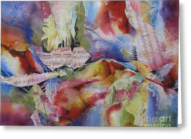 Music Of The Night Greeting Card by Deborah Ronglien