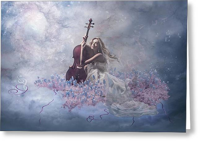 Photomanipulation Greeting Cards - Music Of The Soul Greeting Card by Nataliorion