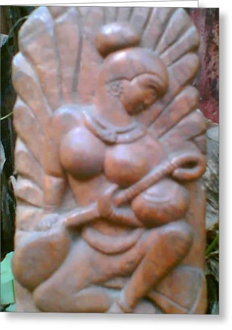 Playing Sculptures Greeting Cards - Music Greeting Card by Rajesh Lane