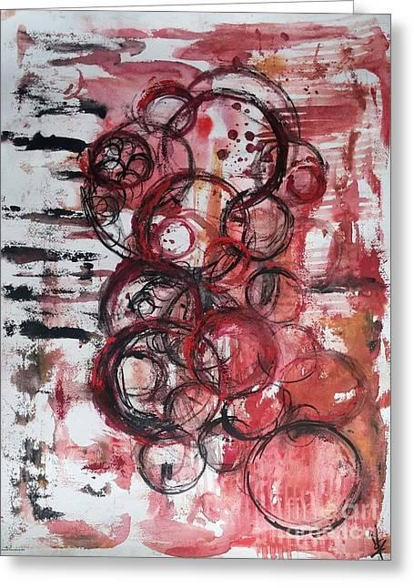 Music Spheres Greeting Card by Dorota Zukowska