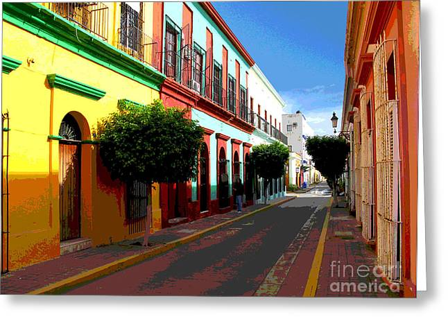 Portal Greeting Cards - Music Street by Darian Day Greeting Card by Olden Mexico