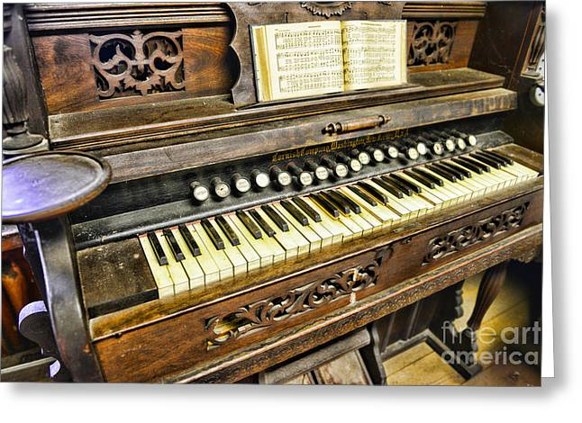 Music Lover Greeting Cards - Music - Wooden Pump Organ  Greeting Card by Paul Ward