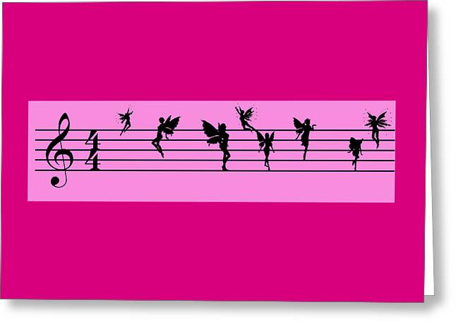 Tn Greeting Cards - Musical Fairies Greeting Card by EricaMaxine  Price