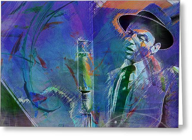 Music Icons - Frank Sinatra I Greeting Card by Joost Hogervorst