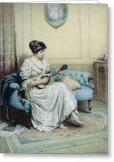 Strumming Greeting Cards - Musical interlude Greeting Card by William Kay Blacklock
