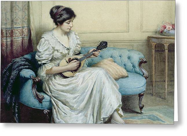 Musical interlude Greeting Card by William Kay Blacklock