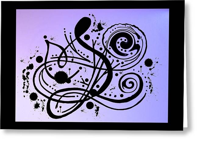 Canadian Drawings Drawings Greeting Cards - Musical note Greeting Card by Heather  Plewes