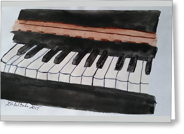 Gershwin Greeting Cards - Musical Tribute - Piano Greeting Card by Elizabeth Kilbride