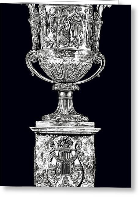 Roman Sculptures Greeting Cards - Musical Urn _ V3 Greeting Card by Bruce Algra