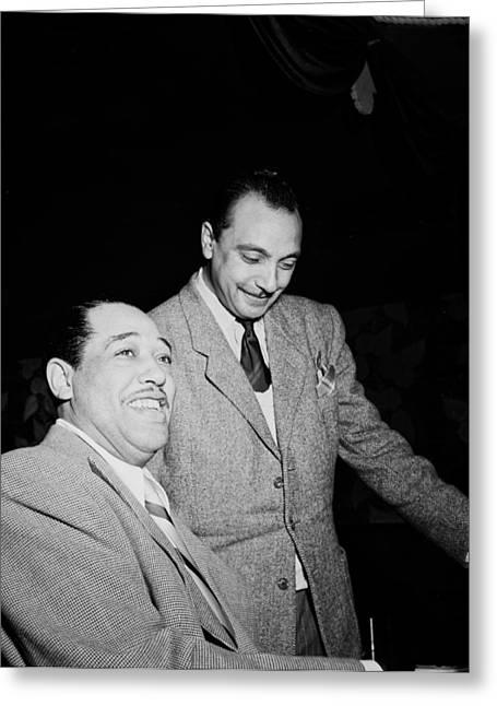 Ellington Greeting Cards - Musics Golden Era - Duke Ellington And Django Reinhardt 1946 Greeting Card by William Gottlieb