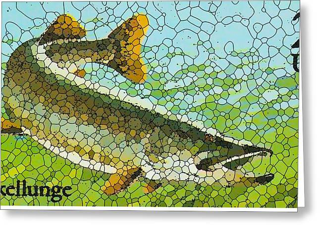 Muskellunge Greeting Cards - Muskellunge Greeting Card by Lanjee Chee