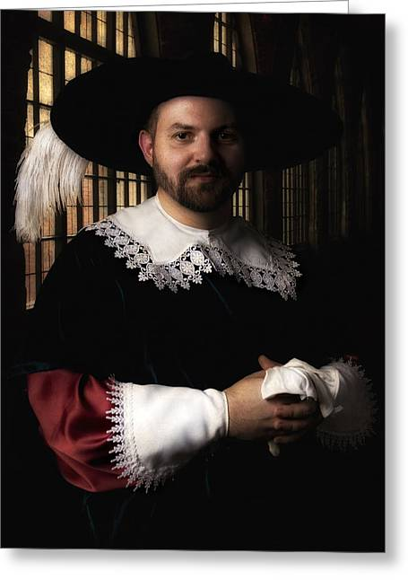 Inside You Greeting Cards - Musketeer in the old castle hall Greeting Card by Jaroslaw Blaminsky