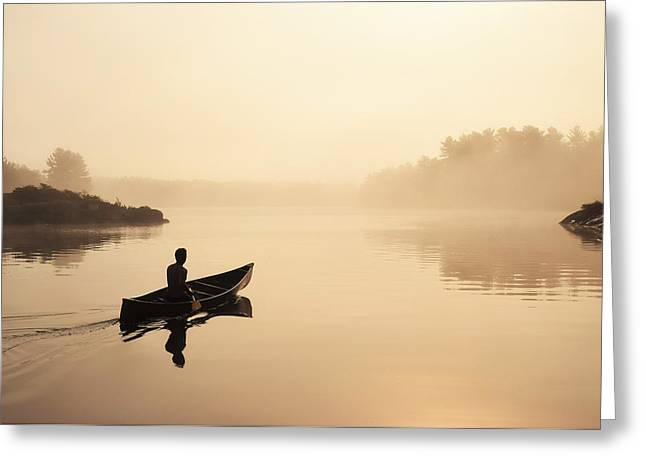 Canoe Greeting Cards - Muskoka Morning Greeting Card by Karl Anderson