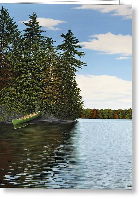 Muskoka Shores Greeting Card by Kenneth M  Kirsch