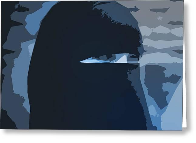 Muslim Burka Fashion Greeting Card by Robert Frank Gabriel