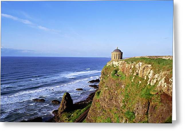 Long Shot Greeting Cards - Mussenden Temple, Portstewart, Co Greeting Card by The Irish Image Collection