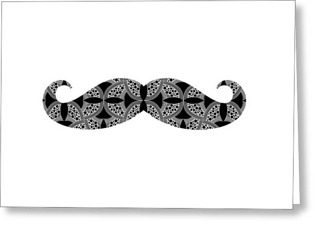 Mustache Tee Greeting Card by Edward Fielding