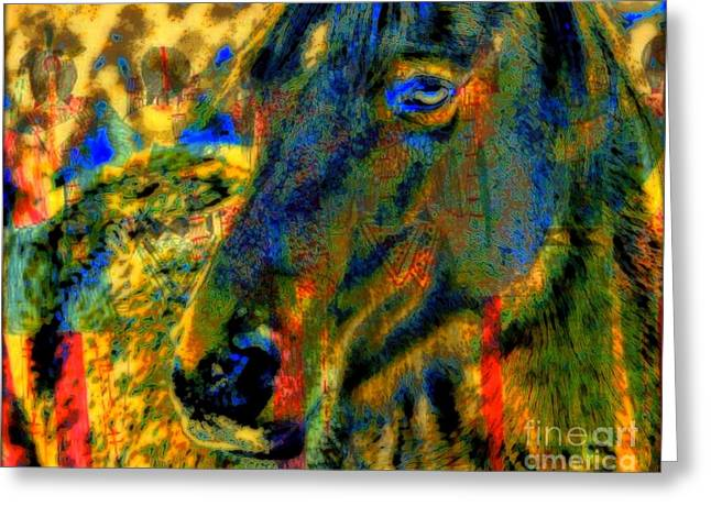 Mustang, A Tribute to Hidalgo Greeting Card by WBK
