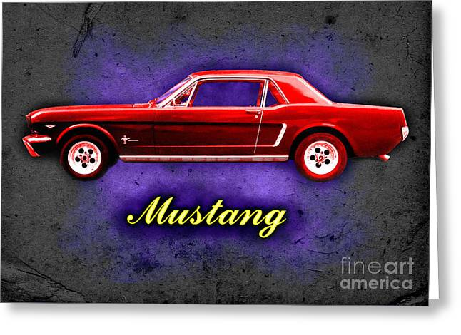 289 Motor Greeting Cards - Mustang Greeting Card by Alan Hogan