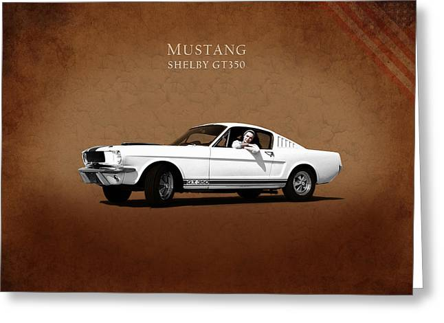 Mustang Gt350 Greeting Cards - Mustang Shelby GT 350 Greeting Card by Mark Rogan