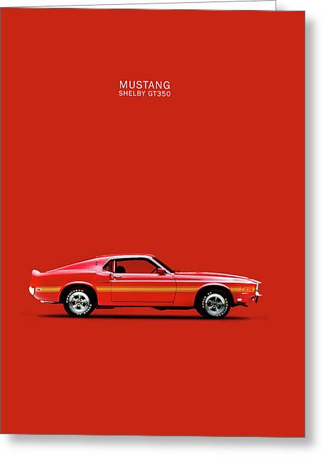 Mustang Gt350 Greeting Cards - Mustang Shelby GT350 Greeting Card by Mark Rogan